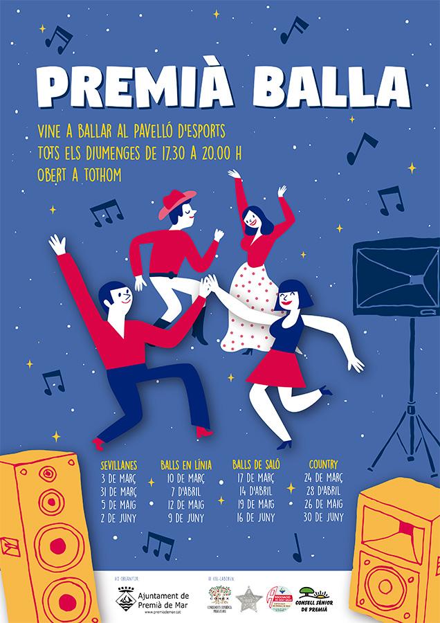Premià Balla: Sevillanes, Balls en Línia, Balls de Saló i Country