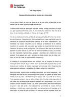 Declaració Institucional Dia Internacional Dones