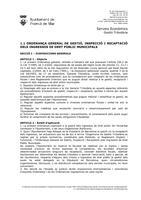 OF-1.1 Ord.Gral.de Gestió, Inspecció, Recaptació dels ingressos de dret públic