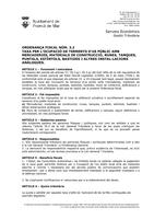 OF-3.2 Taxa ocupació terrenys ús públic amb materials const.runes, tanques, bastides