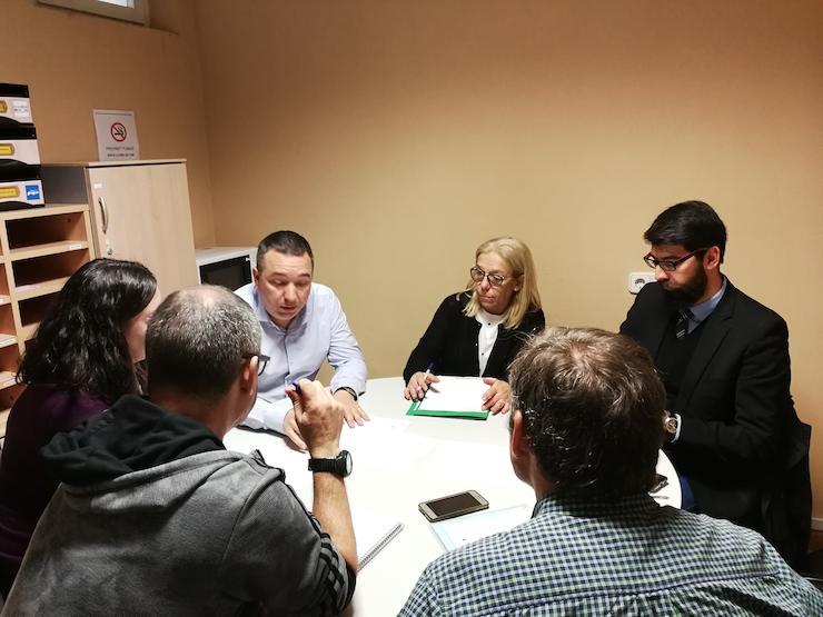 Reunió de treball amb l'equip de l'OMIC
