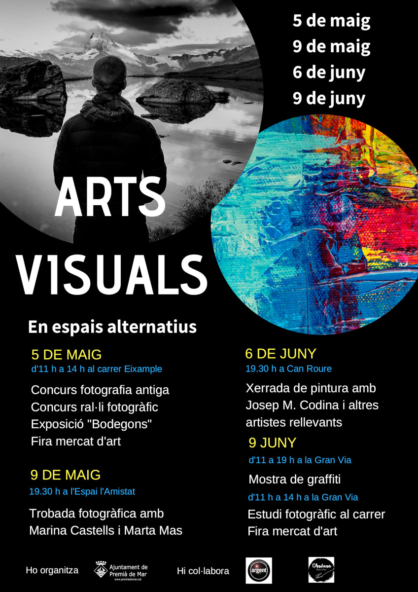 Cartell del programa Arts visuals en espais alternatius