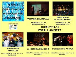 Cicle d'espectacles 2014-2015