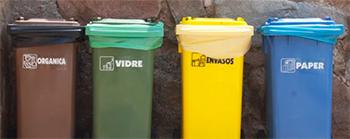 Resultat d'imatges de contenidors de reciclatge