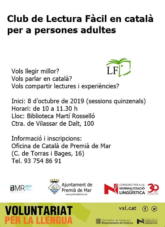 Club de Lectura Fàcil en català per a persones adultes