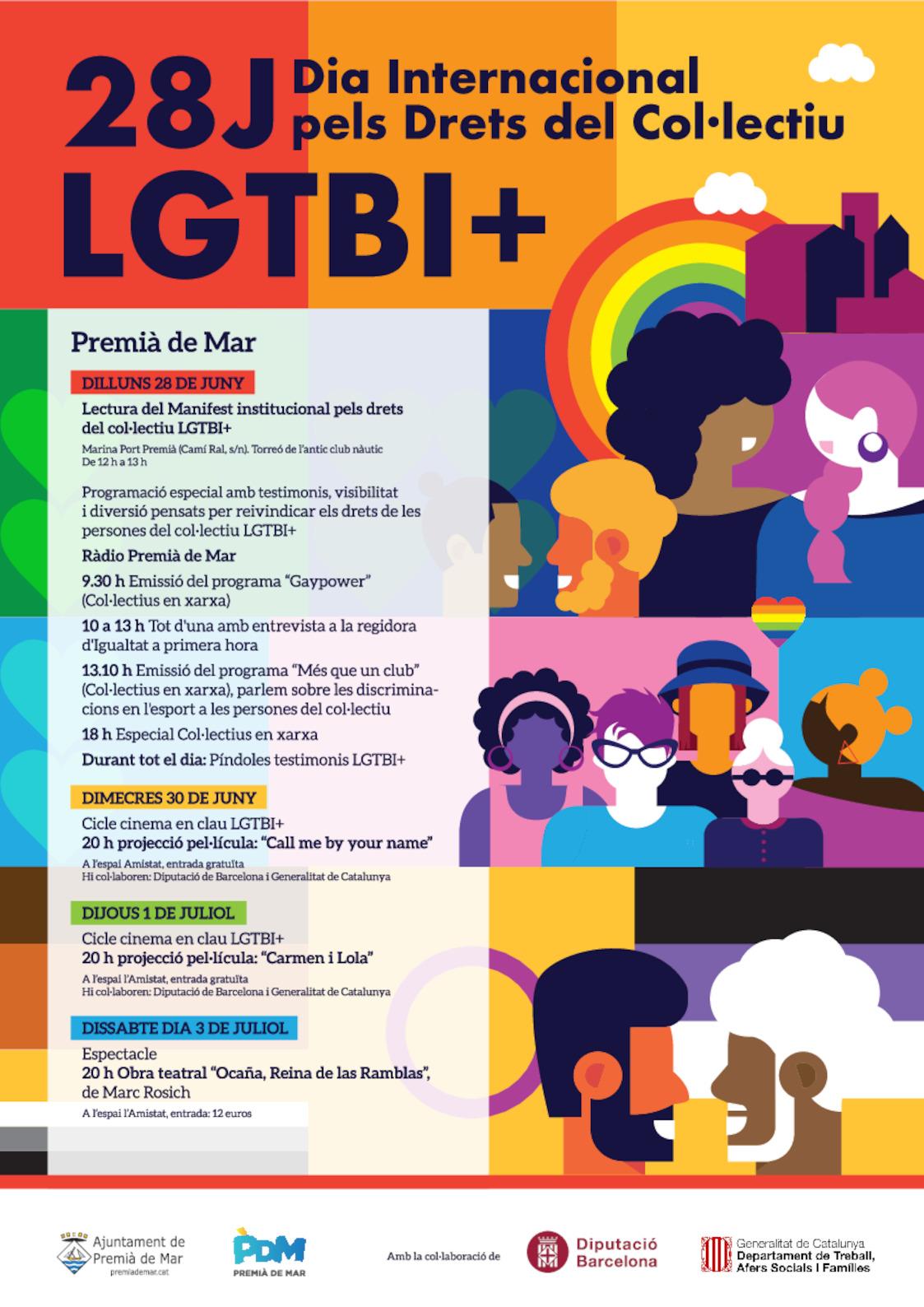 28 Juny Di Internacional Pels Drets del Col·lectiu LGTBI+
